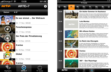 Download empfehlung arte applikation f r iphone und ipad for Spiegel tv mediathek download
