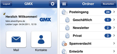 posteingang e mails gmx
