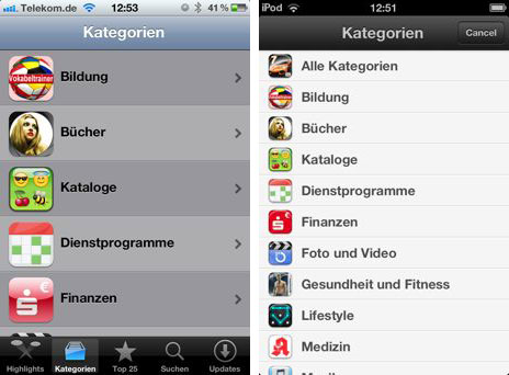 neu in ios 6 der app store mit verbesserungen f r den. Black Bedroom Furniture Sets. Home Design Ideas