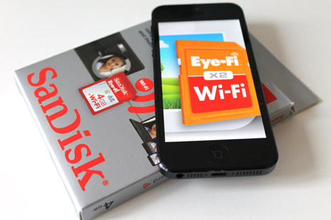 eye fi im video test sandisks sd karte bertr gt bilder drahtlos versteht sich auf iphone und. Black Bedroom Furniture Sets. Home Design Ideas