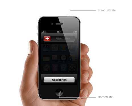 IPHONE 4 STANDBY TASTE DEFEKT NEU STARTEN