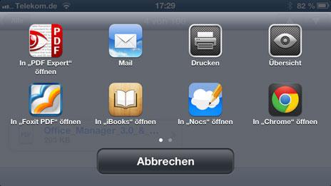 pdf öffnen auf iphone