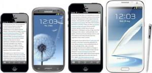 iPhone und Samsung im Device-Vergleich