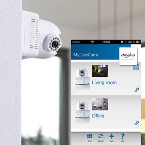 Devolos LiveCam liefert Videos an iPhone und iPad auch von Unterwegs – Heimüberwachung per App im Test