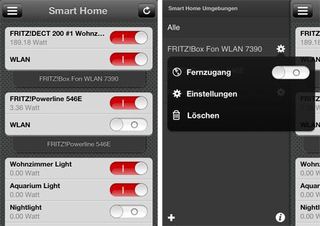 smart home app steuert intelligente steckdosen der fritz box macher avm vom iphone aus. Black Bedroom Furniture Sets. Home Design Ideas
