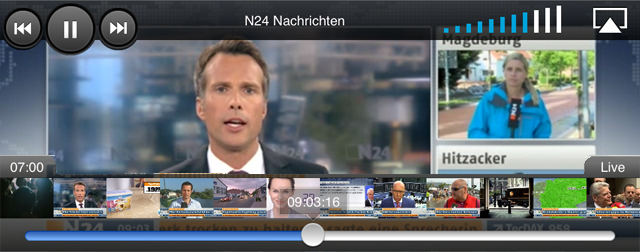n24 next neue app des nachrichtensenders kombiniert live programm und mediathek iphone. Black Bedroom Furniture Sets. Home Design Ideas