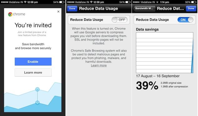 Chrome-iOS-datacompression