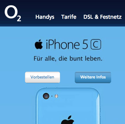o2 verkauft iphone 5c teurer als apple telekom bietet. Black Bedroom Furniture Sets. Home Design Ideas