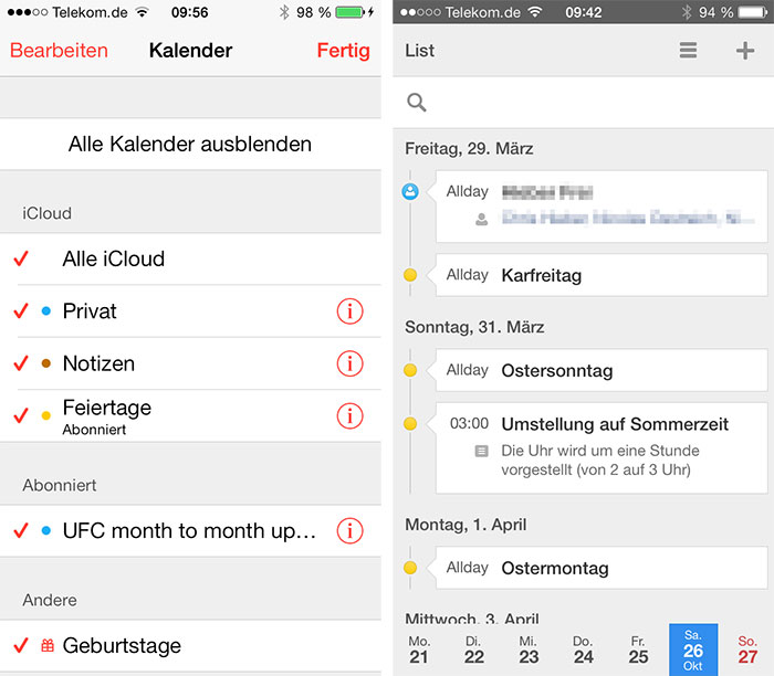 App Feiertage In Iphone Kalender