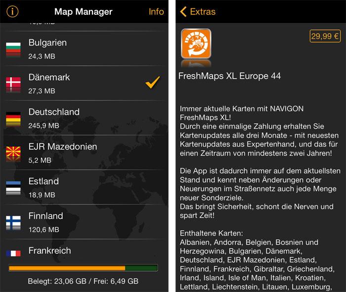 Navigon map downloads.