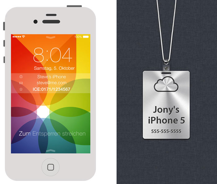 personalisiertes iphone hintergrundbild f r ios 7 iphone. Black Bedroom Furniture Sets. Home Design Ideas