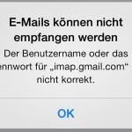 gmail-fehler