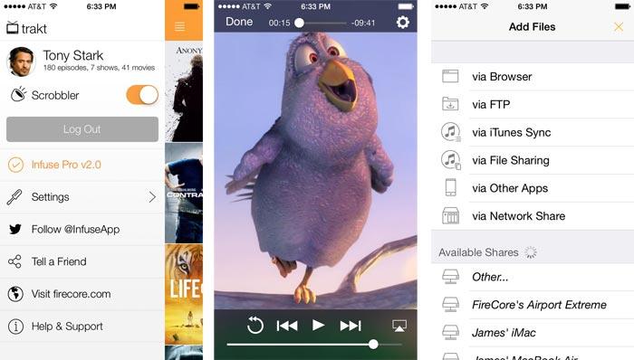 AirPlay und 14 Videoformate: VLC-Konkurrent Infuse startet