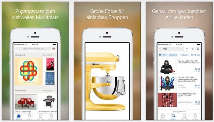 ebay spendiert ios app update mit besserer darstellung iphone. Black Bedroom Furniture Sets. Home Design Ideas