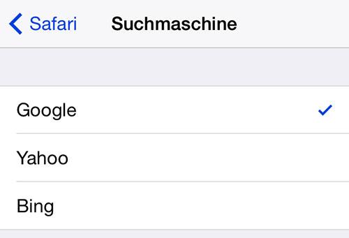 benutze google als suchmaschine