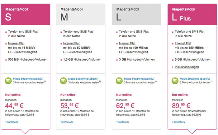 magenta mobil neue telekom tarife starten offiziell. Black Bedroom Furniture Sets. Home Design Ideas