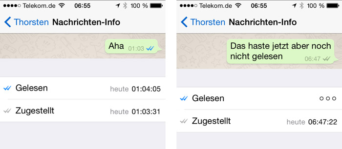 whatsapp blaue haken galaxy s8
