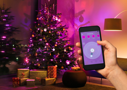 smart lighting f r den weihnachtsbaum iphone. Black Bedroom Furniture Sets. Home Design Ideas