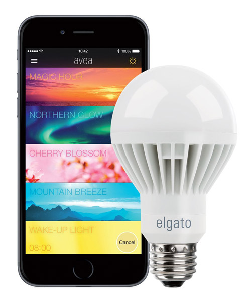 angeschaut die app gesteuerte bluetooth led lampe avea von elgato iphone. Black Bedroom Furniture Sets. Home Design Ideas