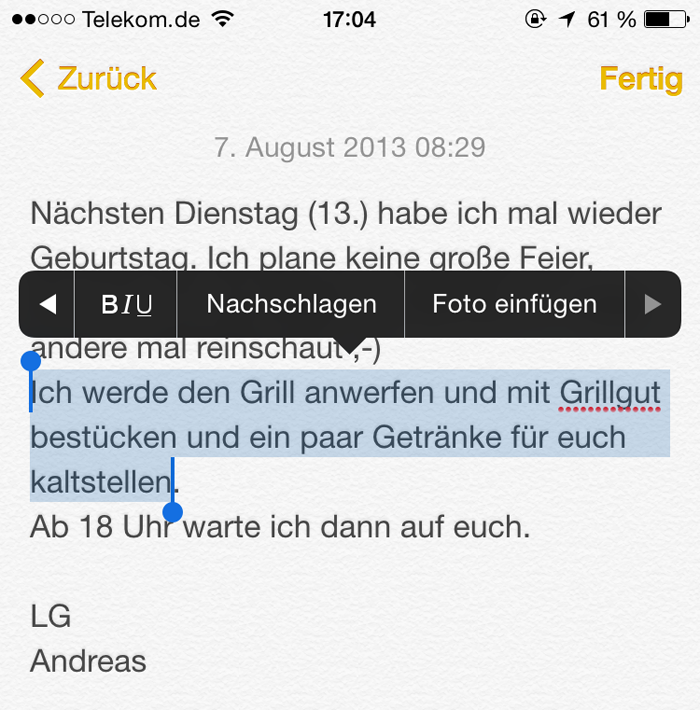 notizen ios