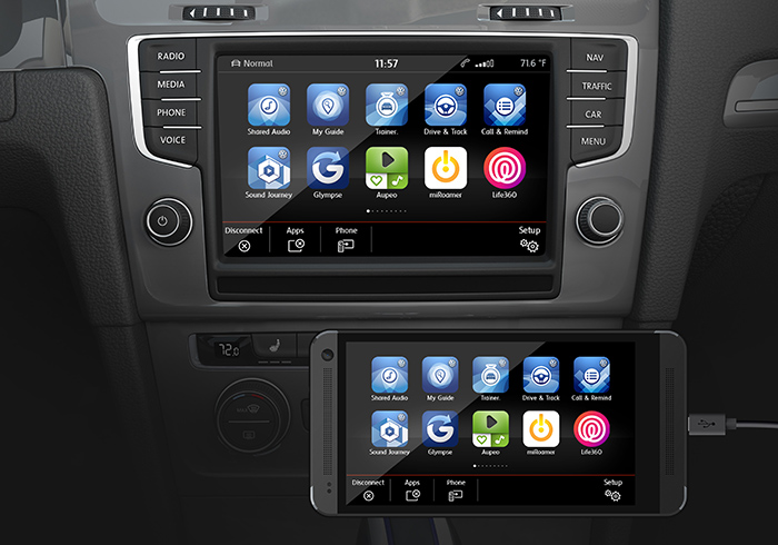 noch 2015 volkswagen app connect kombiniert carplay und android auto iphone. Black Bedroom Furniture Sets. Home Design Ideas