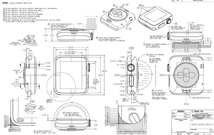 apple watch technische zeichnung und drittarmb nder ank ndigung iphone. Black Bedroom Furniture Sets. Home Design Ideas