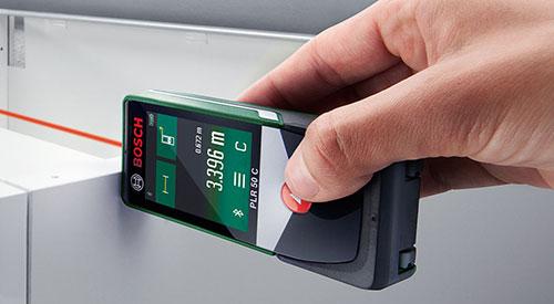 Bosch laser entfernungsmesser spricht mit ipad und iphone