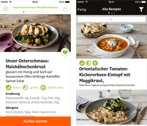 hellofresh app sehr gute rezepte auch ohne kochbox abo iphone. Black Bedroom Furniture Sets. Home Design Ideas