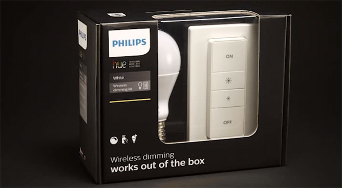 philips hue wireless dimming kit kommt im september. Black Bedroom Furniture Sets. Home Design Ideas
