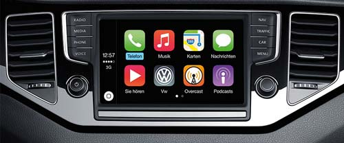 app connect erm glicht carplay und android auto in aktuellen vw modellen iphone. Black Bedroom Furniture Sets. Home Design Ideas