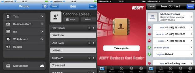 Visitenkarten Scan Und Texterkennung Prizmo Startet Abbyy
