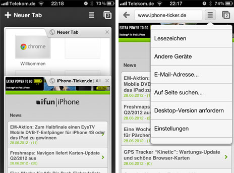 google chrome for iphone der steht chrome f 252 r das iphone iphone 8528