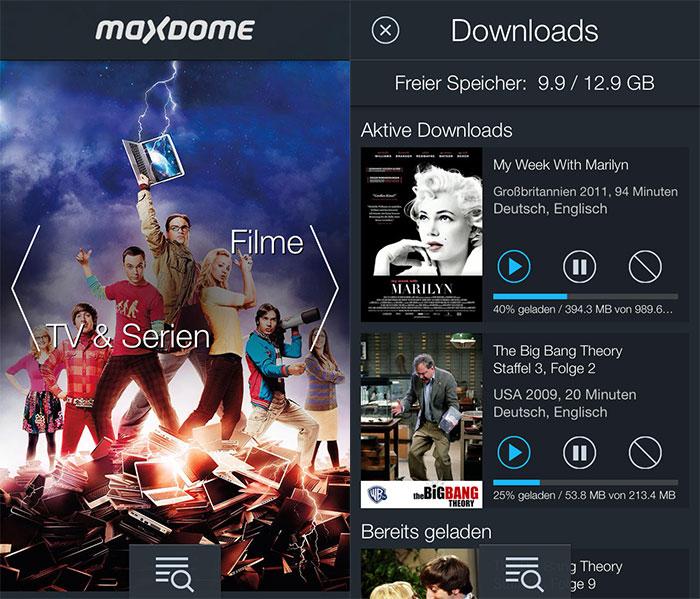 Maxdome Offline